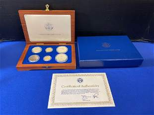 1986 Liberty Six Gold and Silver Coin Set