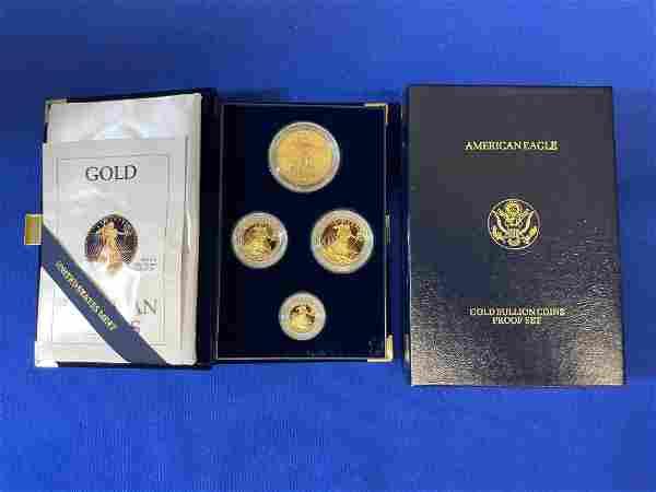 1990 American Eagle Gold Bullion Proof Set
