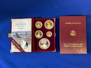 1995 American Eagle 5 Gold and Silver Coin Set