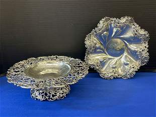 Two Pierced Sterling Silver Serving Articles
