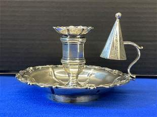English Sterling Silver Chamber Stick