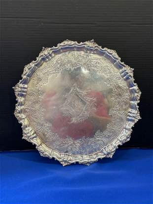 English Sterling Silver Footed Tray