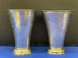 Two Scandinavian Silver Vases