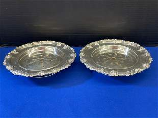 Pair of Sterling Silver Butter Dishes