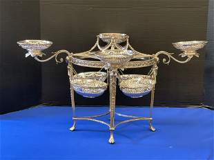 Fine English Sterling Silver Epergne