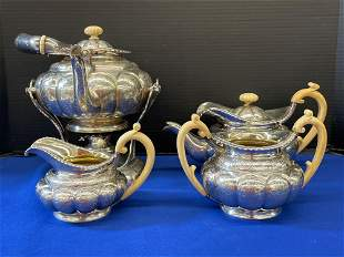 Peter Krider Four-piece Sterling Tea Set