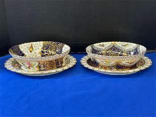 Pr. Copeland Porcelain Service Bowls & Underplates