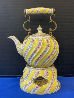 Dresden Porcelain Teapot and Warmer