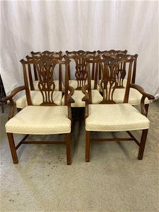 8 Chippendale-style Dinning Chairs