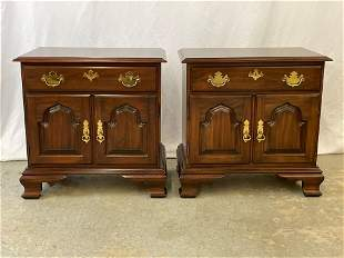 Pair of Harden Mahogany Chippendale-style Nightstands