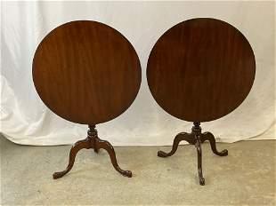 Pair of Hitchcock Tilt-Top Tea Tables