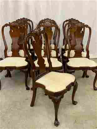 Ten Stickley Williamsburg Mahogany Dining Chairs