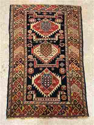 Caucasian Area Carpet, 4ft 6in x 3ft