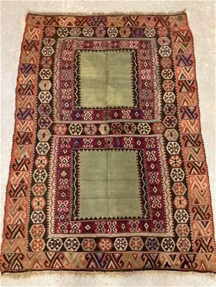 Turkish Kilim Area Carpet, 5ft 9in x 4ft 1in
