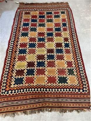 Turkish Kilim Carpet, 9ft 7in x 5ft 4in