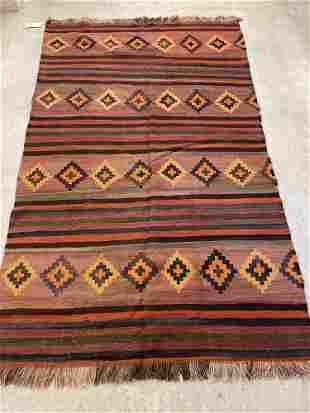 Turkish Kilim Carpet, 7ft 8in x 4ft 8in