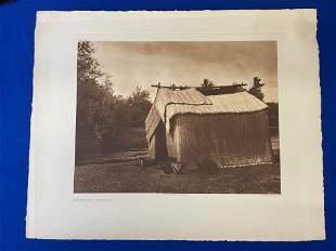 Edward Curtis. Photogravure, A Mat House