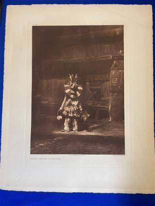Edward Curtis. Photogravure, Masked Dancer