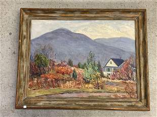 Mary Butler. Oil/Canvas, Cottage in the Valley