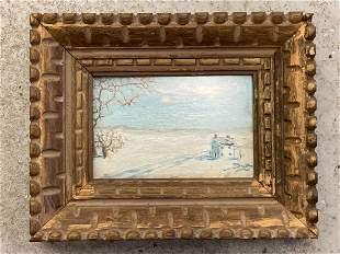 Robert Baum. Oil/Panel, Miniature Landscape