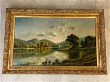 Edmund Darch Lewis. Oil/Canvas, Landscape