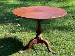 Chippendale Walnut Tilt Top Tea Table