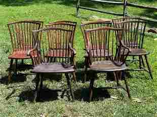 Ten Pennsylvania Windsor Chairs