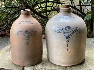 Two H. Weston Stoneware Jugs