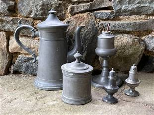 Five-Piece Pewter Grouping