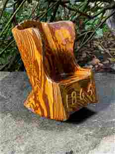 Dated English Redware Rocking Chair