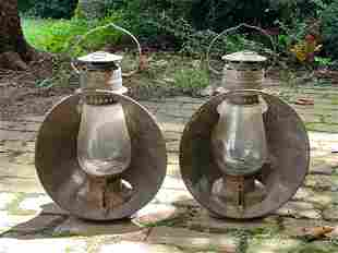 Pair of Dietz Railroad Beacon Lanterns