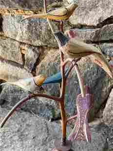 Strawser Bird Tree with Seven Birds