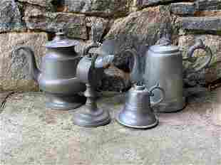 Four-piece American Pewter Grouping