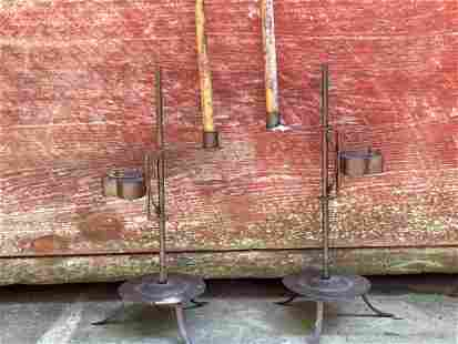 Pair of Wrought Iron Lighting Devices