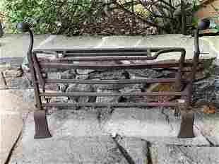 Unusual Wrought Iron Fireplace Fender