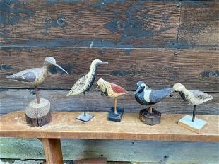 Five Shore Bird Decoys