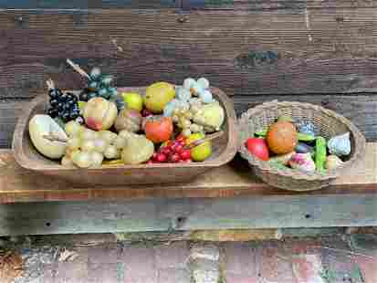 Grouping of Stone Fruit and Vegetables