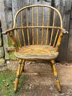 Windsor Paint Decorated Arm Chair