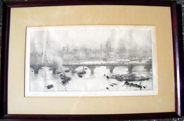 4: William Lionel Wyllie, Etching.