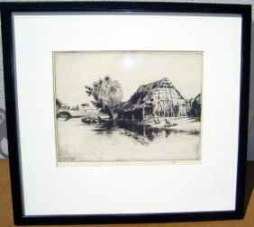 Martin Hardy, Etching.