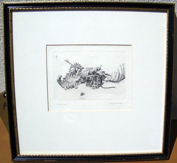 32: Winifred Austen, Engraving.