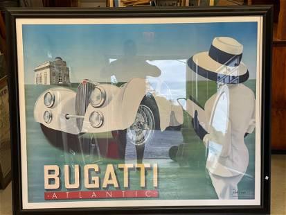 Large Razzia Bugatti Atlantic Poster