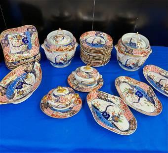 30 pcs. of English Imari Porcelain