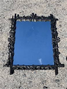 Black Forest Carved Wall Mirror