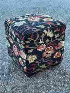 Decorator Kilim Upholstered Stool