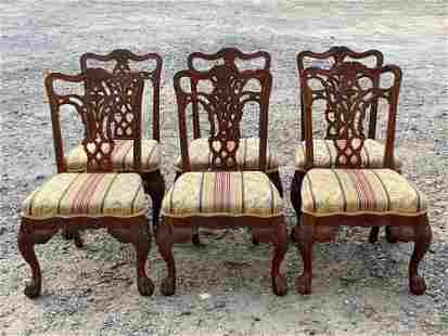 Six Maitland Smith Georgian-style Dining Chairs