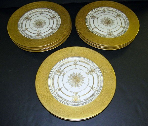 016: Lot of 11 Bailey, Banks & Biddle Service Plates