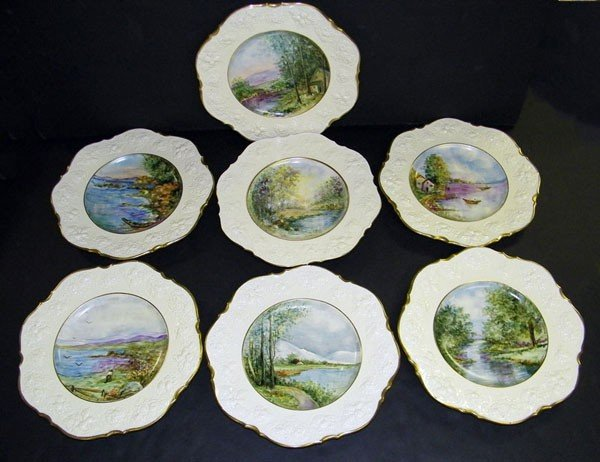 019: Lot of 14 Crown Ducal Plates