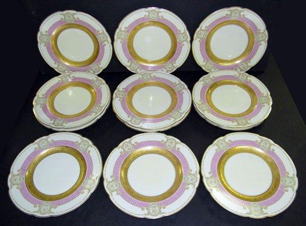 020: Lot of 12 Bavarian Service Plates