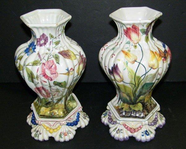 021: Pair of Pedestal-base Vases